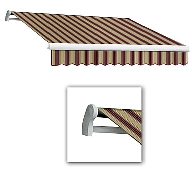 Awntech® Maui® LX Manual Retractable Awning, 10' x 8', Burgundy/Tan Multi