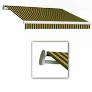 "Awntech® Maui® LX Left Motor Retractable Awning, 14' x 10' 2"", Olive/Tan"