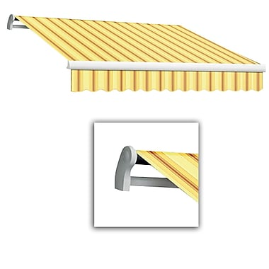 Awntech® Maui® LX Right Motor Retractable Awning, 12' x 10', Light Yellow/Terra