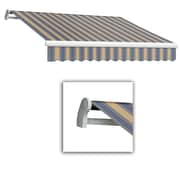 """Awntech® Maui® LX Right Motor Retractable Awning, 14' x 10' 2"""", Dusty Blue/Tan Wide"""
