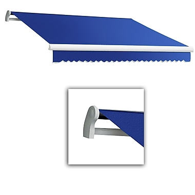 Awntech® Maui® LX Left Motor Retractable Awning, 12' x 10', Bright Blue