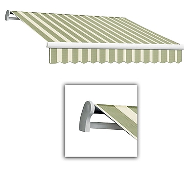 Awntech® Maui® LX Left Motor Retractable Awning, 12' x 10', Sage/Linen/Cream