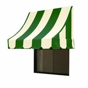 "Awntech® 10' Nantucket® Window/Entry Awning, 31"" x 24"", Forest/White"