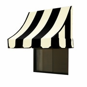 "Awntech® 14' Nantucket® Window/Entry Awning, 31"" x 24"", Black/White"