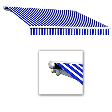 Awntech® Galveston® Right Motor Retractable Awning, 8' x 7', Bright Blue/White