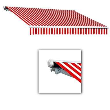 Awntech® Galveston® Left Motor Retractable Awning, 8' x 7', Red/White