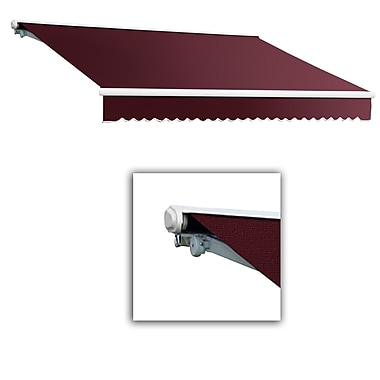 Awntech® Galveston® Left Motor Retractable Awning, 8' x 7', Burgundy