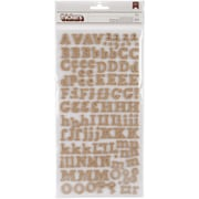American Crafts™ DIY Thickers Alphabet Stickers, Eric-Burlap
