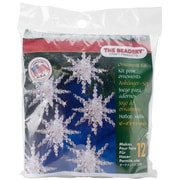 "Beadery® Holiday Beaded Ornament Kit, 7"" x 6"" x 1"", Snow Cluster"
