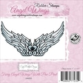 Cindy Echtinaw Designs™ Angel Wings 4in. x 2 1/2in. Mounted Cling Stamp, Wings with Paw Print