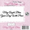 Cindy Echtinaw Designs™ Angel Wings 4in. x 1in. Mounted Cling Stamp, May Angels Bless