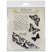 Class Act Chapel Road 5 3/4 x 6 3/4 Cling Mounted Rubber Stamp Set, Angle Butterfly