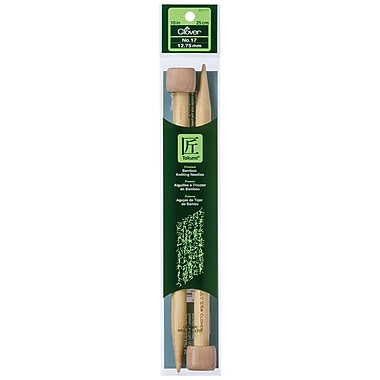 Clover Takumi Bamboo Single Point Knitting Needle, 10