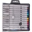 Copic Marker® Multiliner SP 12-piece Color Small Brush Tip Inking Pen Set With Nib, Assorted Color