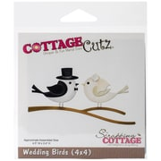 "CottageCutz™ Die, 4"" x 4"", Wedding Birds"
