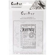 "Crafty Individuals 4 3/4"" x 7"" Unmounted Rubber Stamp, Journey Calligraphy"