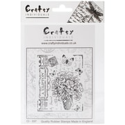 "Crafty Individuals 4 3/4"" x 7"" Unmounted Rubber Stamp, Butterfly Bouquet"