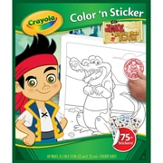 "Crayola® Colour 'N Sticker ""Jake And The Never Land Pirates"" Book, 10.1"" x 8.5"" x 0.2"""