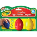Crayola® My First Crayola® Easy Grip Egg Shaped Crayons, 3/Pack