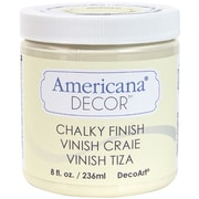 Deco Art Americana Decor Non-Toxic 8 oz. Chalky Finish Paint, Whisper (ADC-03)