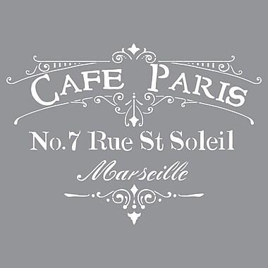 Deco Art® Americana® Decor™ Stencil, Cafe Paris
