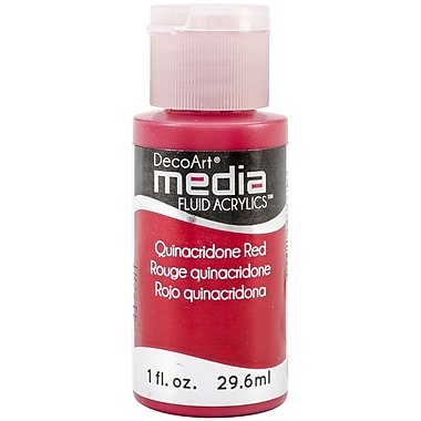 Deco Art® 1 oz. Media™ Fluid Acrylic Paint, Quinacridone Red (Series 5)