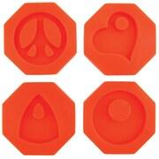 Diamond Tech Crafts Fuseworks Polar Fuse Glass Casting Mold, 5.12 oz., Groovy Pendants