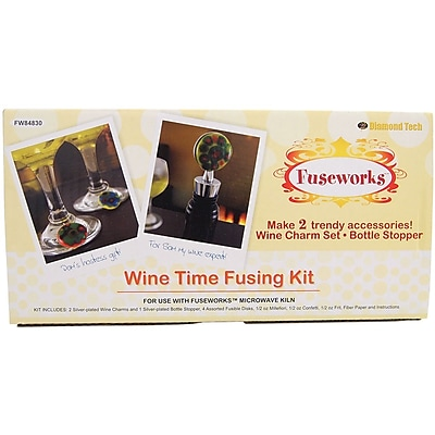 """""Diamond Tech Crafts Fuseworks Wine Time Kit, 3.8"""""""" x 7.7"""""""" x 2.2"""""""""""""" 1175256"