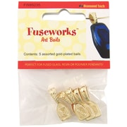 "Diamond Tech Crafts Fuseworks Variety Art Bail, 3.5"" x 2.6"", Gold"