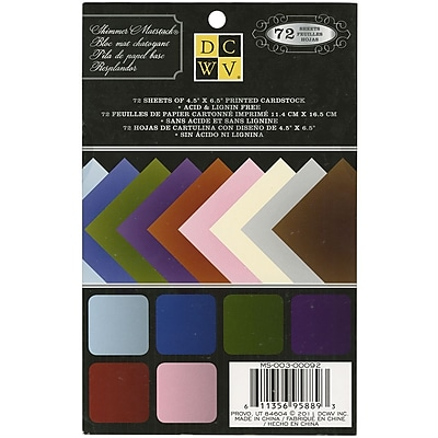 """""Diecuts With A View 4 1/2"""""""" x 6 1/2"""""""" Mat Stack, Shimmer Solid"""""" 1175240"