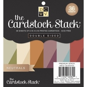 "Diecuts With A View® 6"" x 6"" Double-Sided Printed Cardstock Paper Stack, Neutral"