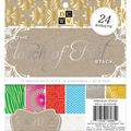 Diecuts With A View® 6in. x 6in. Specialty Paper Stack, Touch of Foil