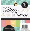 Diecuts With A View® 6in. x 6in. Cardstock Paper Stack, Glitter Basics