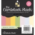 Diecuts With A View® 6in. x 6in. Double-Sided Printed Cardstock Paper Stack, Bright and Pastel