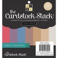 Diecuts With A View® 6in. x 6in. Double-Sided Printed Cardstock Paper Stack, Jewel and Neutral