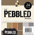 Diecuts With A View® 6in. x 6in. Pebbled Embossed Specialty Paper Stack, Pebbled Embossed