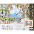 Dimensions Paint By Number Kit, 20in. x 16in. x 1.4in., Floral Patio