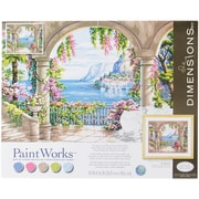 "Dimensions Paint By Number Kit, 20"" x 16"" x 1.4"", Floral Patio"