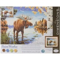 Dimensions Paint By Number Kit, 14in. x 11in. x 1.4in., Majestic Moose