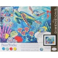 Dimensions Paint By Number Kit, 14in. x 11in. x 1.4in., Sea Turtles