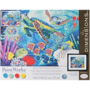"Dimensions Paint By Number Kit, 14"" x 11"" x 1.4"", Sea Turtles"