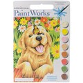 Dimensions Paint By Number Kit, 13 1/2in. x 9 1/2in. x 1in., Puppy Gardener
