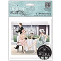 Docrafts™ Papermania Art Deco 5in. x 5in. Urban Stamp, Afternoon Tea
