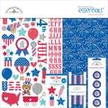 Doodlebug™ 12in. x 12in. Essentials Page Kit, Patriotic Parade