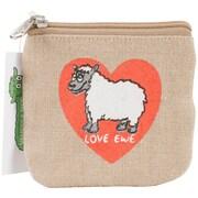 """Dublin Gift Fab-Ewe-Lous Coin Purse, 4.25"""" x 4.5"""" x 0.14"""", Love Ewe"""