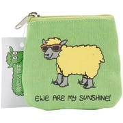 "Dublin Gift Fab-Ewe-Lous Coin Purse, 4.25"" x 4.5"" x 0.14"", Ewe Are My Sunshine"