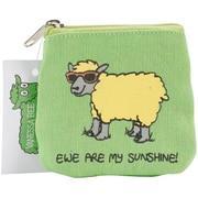 "Dublin Gift Fab-Ewe-Lous Coin Purse, 4.25"" x 4.5"" x 0.14"", Ewe Are My Sunshine"