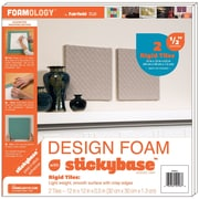 "Fairfield 2/Pack Rigid Design Foam, 12"" x 12"" x 1/2"", White"