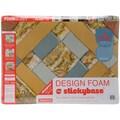 Fairfield Criss Cross Design Foam, 24in. x 18in. x 2in., White
