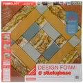 Fairfield Criss Cross Design Foam, 24in. x 24in. x 2in., White